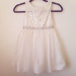 6X Youngland Floral/Leaf Sparkle Kids Dress